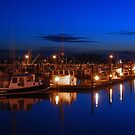 Dusk on Gloucester's Day Boats by Steve Borichevsky