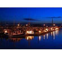 Dusk on Gloucester's Day Boats Photographic Print
