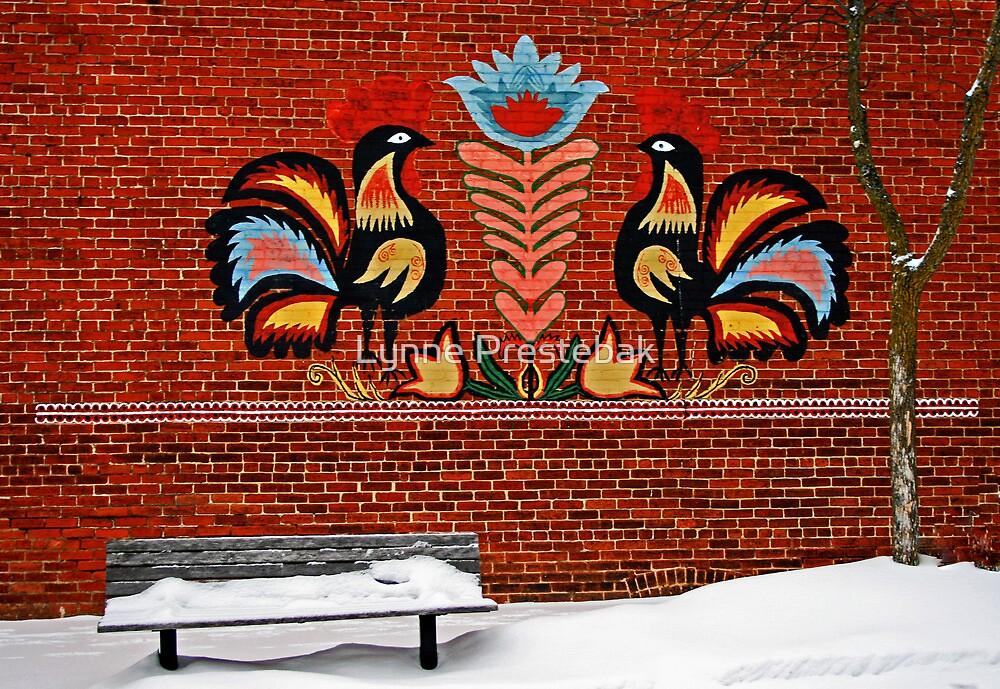 painted wall by Lynne Prestebak