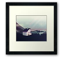 Castle in the Mountains Framed Print