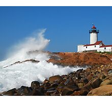Wave Breaks on Eastern Point Light - Gloucester Photographic Print