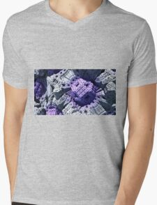 Purple Reign - Abstract Fractal Mens V-Neck T-Shirt