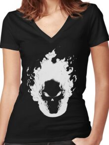 Ghost Rider Women's Fitted V-Neck T-Shirt