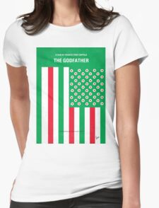 No028 My Godfather minimal movie poster Womens Fitted T-Shirt