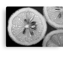 Lemon Texture Metal Print