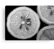 Lemon Texture Canvas Print