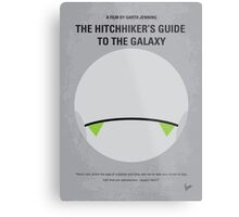 No035 My Hitchhiker Guide minimal movie poster Metal Print