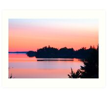 St. Lawrence Sunset, Canadian Middle Channel Art Print