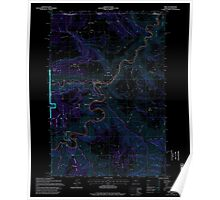 USGS Topo Map Oregon Troy 281881 1995 24000 Inverted Poster