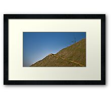 Lone Tree on Mount Tam Framed Print