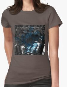 Meduse - Abstract Fractal Womens Fitted T-Shirt