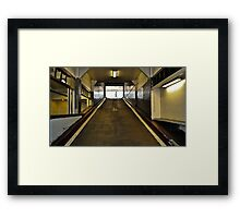 Parking Garage Tunnel Framed Print