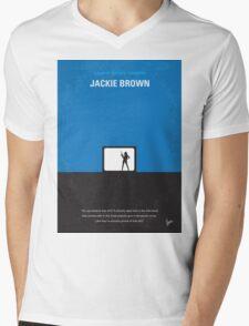 No044 My Jackie Brown minimal movie poster Mens V-Neck T-Shirt