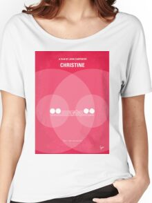 No016 My Christine minimal movie poster Women's Relaxed Fit T-Shirt