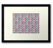 Retro Lips Pattern Framed Print