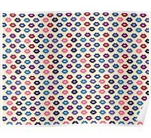 Retro Lips Pattern Poster