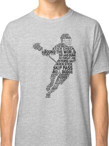 Lacrosse Player Calligram Classic T-Shirt