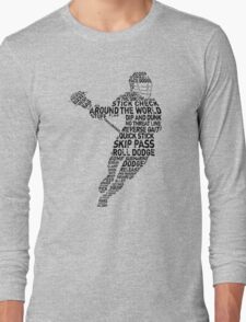 Lacrosse Player Calligram T-Shirt