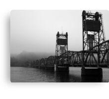 Foggy Bridge Canvas Print