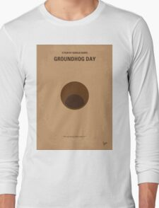No031 My Groundhog minimal movie poster Long Sleeve T-Shirt