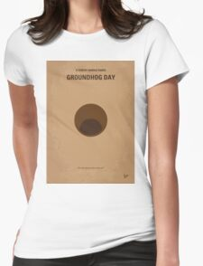 No031 My Groundhog minimal movie poster Womens Fitted T-Shirt