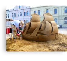 Ship of Sand Metal Print