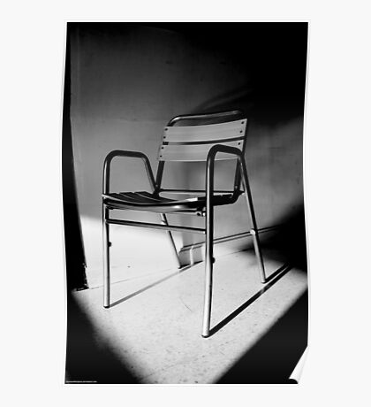 Chair in Gray, White and Black Poster