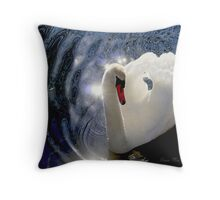 The reflections of magic water   Throw Pillow