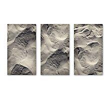 Beach trek triptych  Photographic Print