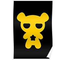 Lazy Bear Yellow Attention Poster