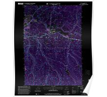 USGS Topo Map Oregon Austin 278901 1998 24000 Inverted Poster