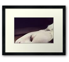 Letting go.. Framed Print