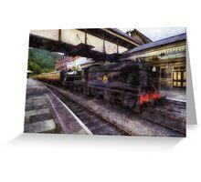 Steam Train Ride Greeting Card