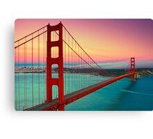 Golden Gate Bridge - Sunset Canvas Print