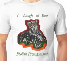 Laughing Big Cat with an Attitude Unisex T-Shirt
