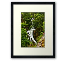 Snowdon Waterfall Framed Print