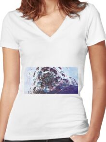 The Edge - Abstract Fractal Women's Fitted V-Neck T-Shirt