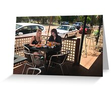 Breakfast In Guildford On Jams Street. Greeting Card