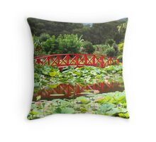 Lucious Lotus and Lily Throw Pillow