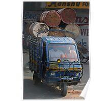 Overloaded Tuk-tuk, Jaipur, India Poster