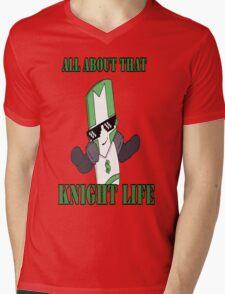 Knight Life-Green Mens V-Neck T-Shirt