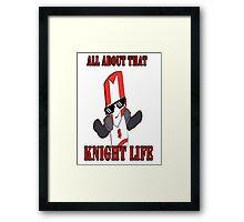 Knight Life-Red Framed Print