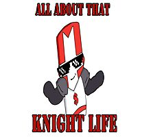Knight Life-Red Photographic Print