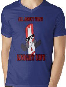 Knight Life-Red Mens V-Neck T-Shirt