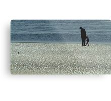 Exploring Low Tide Metal Print