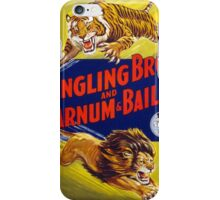 Ringling Brothers & Barnum & Bailey Vintage Poster iPhone Case/Skin