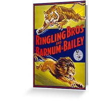 Ringling Brothers & Barnum & Bailey Vintage Poster Greeting Card