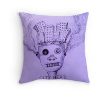 City Head Throw Pillow