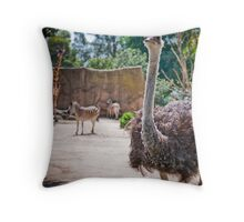 Who's Who at the Zoo Throw Pillow