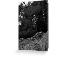 Downhill Mountain Biking Greeting Card